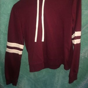 Burgundy hoodie from forever21